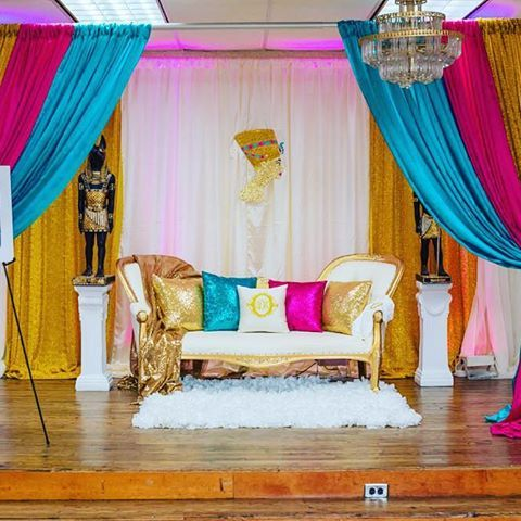 Full Look At Our Canopy For This Egyptian Themed Baby Shower, Definitely  One Of My