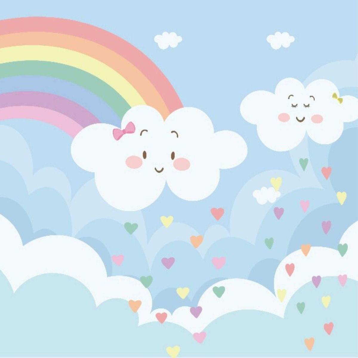 Rainbow Rain Clouds Festa Chuva De Bencao Chuva De Bencao