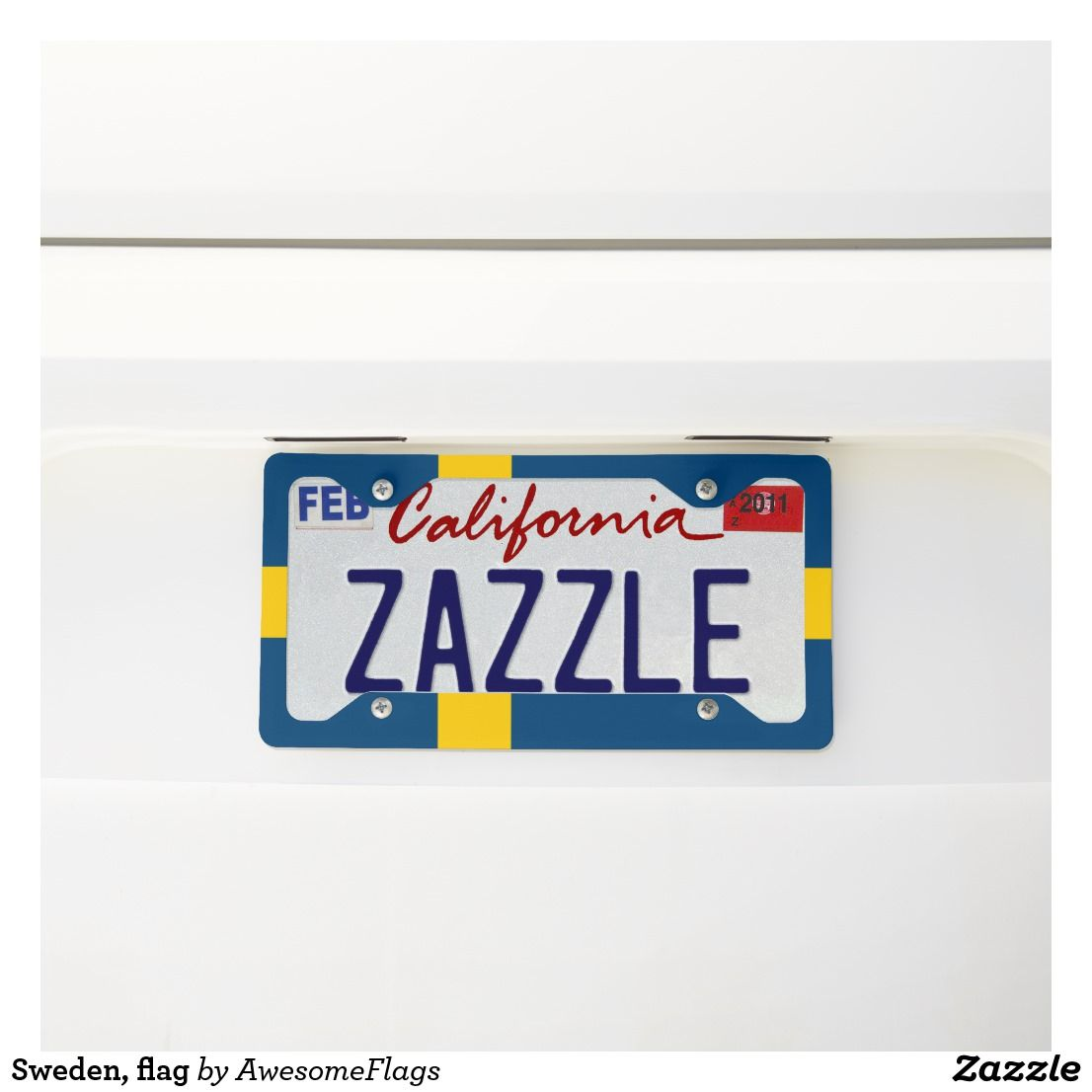 Sweden Flag Licence Plate Frame Zazzle Co Uk With
