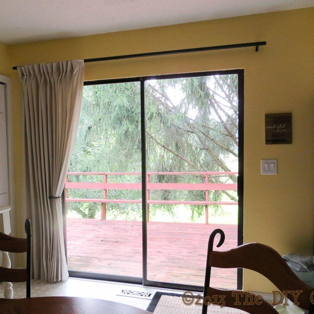 Awesome Sliding Glass Door Curtain Rod Size Amazing Ideas