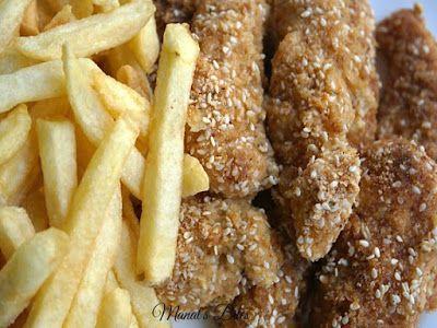 وصفات الشيفات أصابع الدجاج بالقرشلة والسمسم Cooking Recipes Cooking Recipes