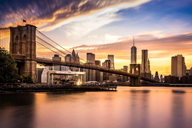 Brooklyn Bridge At Sunset Viewed From Brooklyn Bridge Park Affiliate Bridge Brooklyn Sunset Park Brooklyn Bridge New York Brooklyn Bridge New York