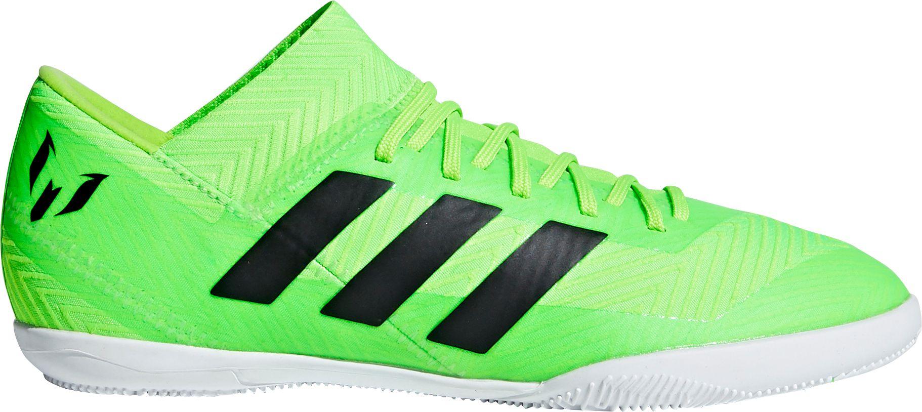 93a45867aeb26 adidas Kids' Nemeziz Messi Tango 18.3 Indoor Soccer Shoes, Green ...