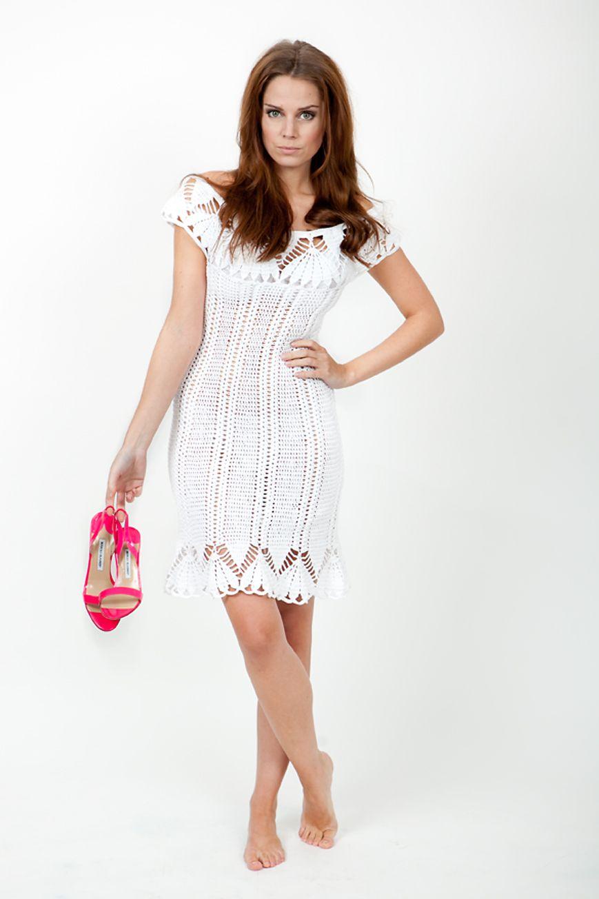 3d6f08f24c8c Háčkované šaty Tender is the night - 36 38 Nová letní kolekce pro rok 2013  Letní romantiické a přitom nenásilně sexy háčkované šaty v čistě bílé barvě  z ...