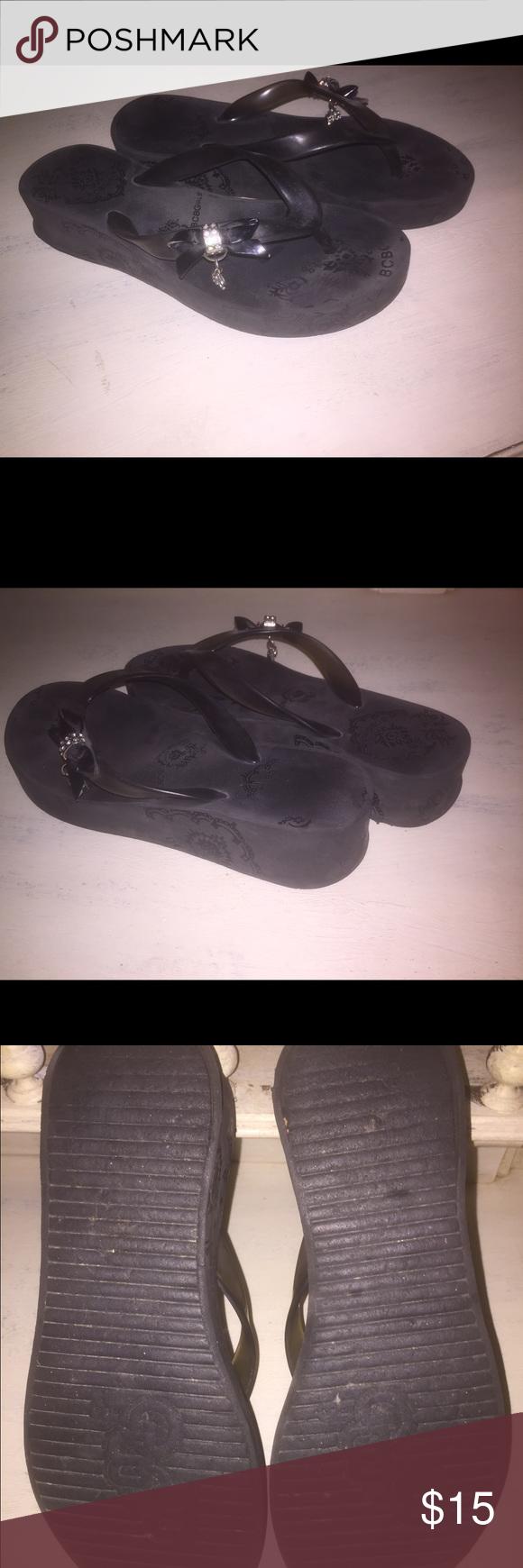 Black sandals size 7 - Black Women S Bcbgirl Sandals Size 7 These Comfortable Black Sandals Are Size 7 Bcbgirls Shoes Sandals