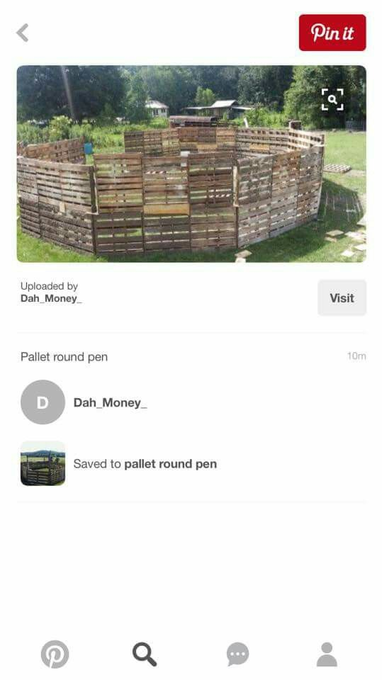 Pallet round pen | Round pen, Shipping pallets, Rounding