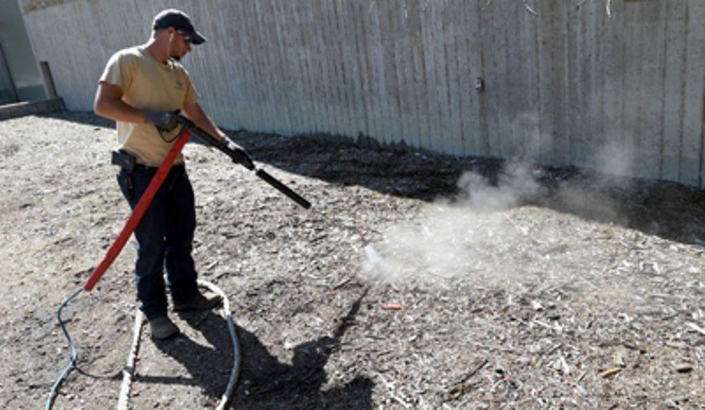 Steamed greens New machine kills CU Boulder campus weeds