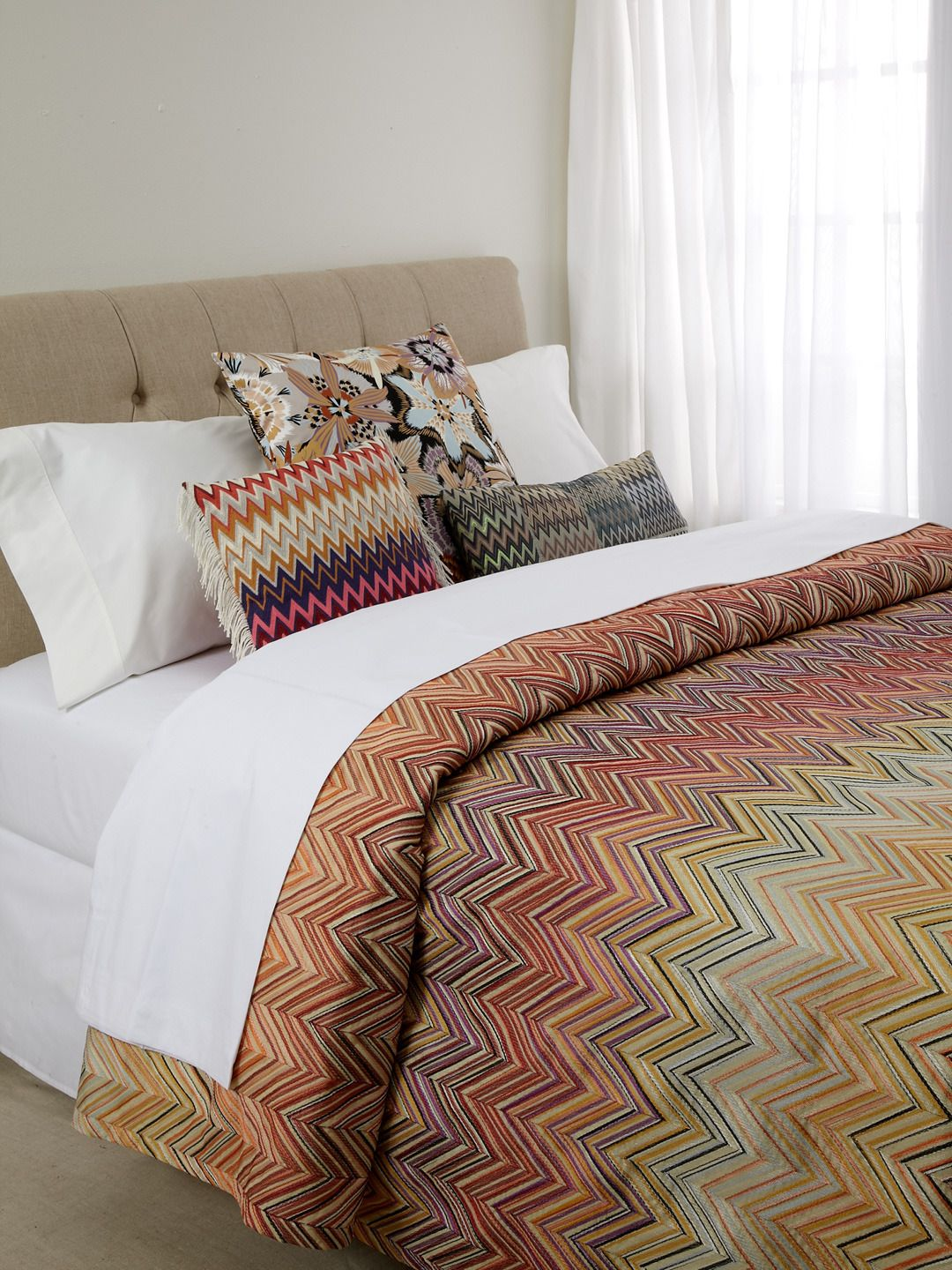 pining for this missoni janet bedspread love it with the crisp  - pining for this missoni janet bedspread love it with the crisp white sheets
