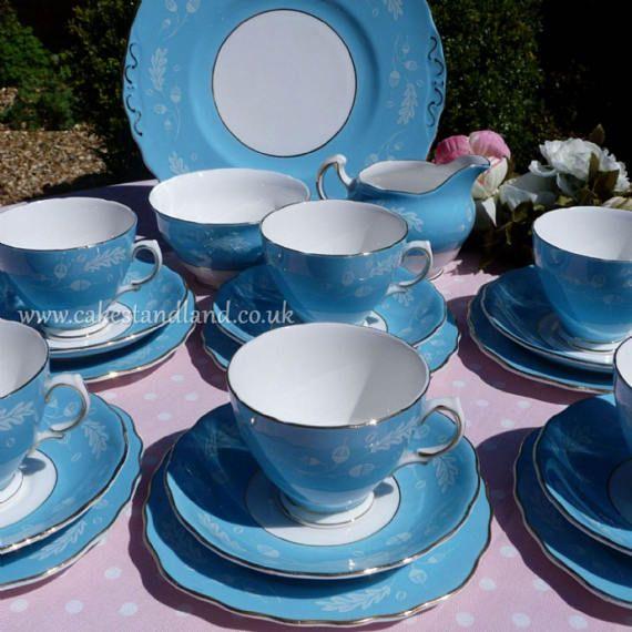 colclough tea set a colclough vintage tea set pale blue china with
