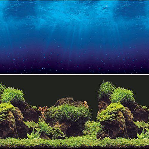 Vepotek Aquarium Background Double Sides Deep Sea Water Https Www Amazon Com Dp B01k3sg2e6 Ref Cm Sw R Pi Dp Aquarium Backgrounds Water Plants Aquarium