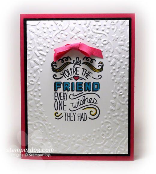 Birthday Card For A Best Friend Stamper Dog Card Ideas Best