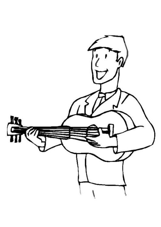 malvorlage gitarrenspieler  ausmalbild 8717