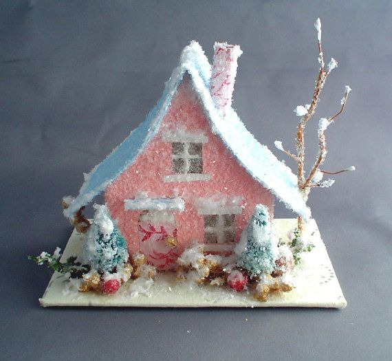 Glitterhouse Patterns | just discovered these darling vintage style glitter houses....are ...