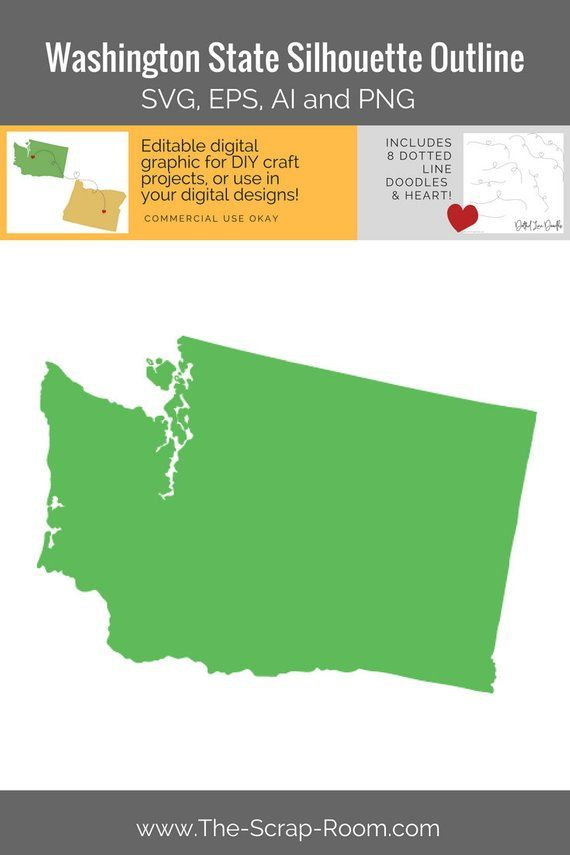 Washington State Graphics Set Clip Art And Digital Cut Files For