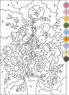 image about Free Printable Paint by Numbers identify paint through selection printable - Google Seem Coloration By way of Amount