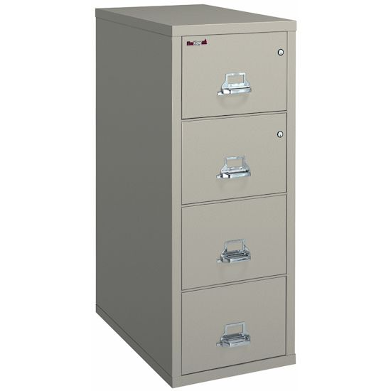 4 Drawer Fireproof Vertical File Letter Size By Fireking Filing Cabinet Filing Cabinet Storage Cabinet