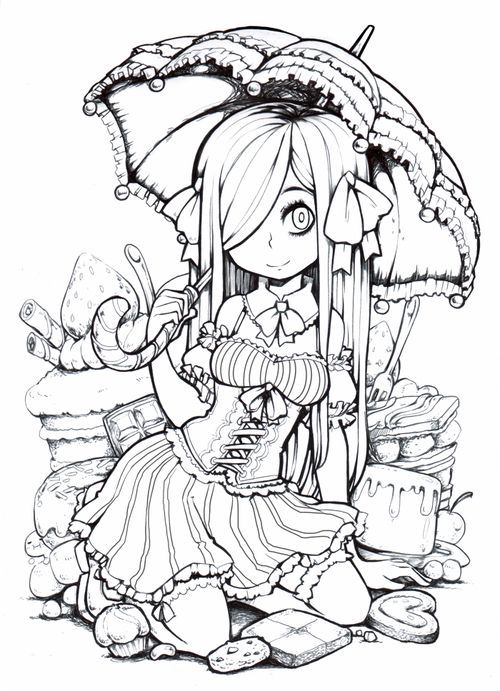 Pastry/sweets-inspired drawing for a little artbook