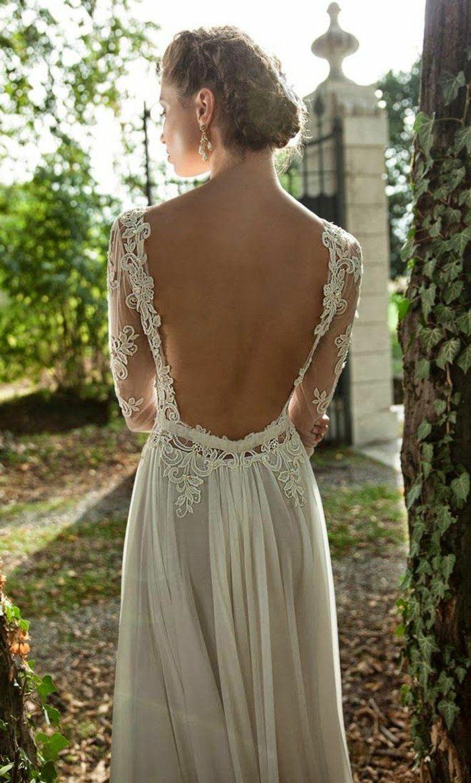 Rückenfreie Hochzeitskleider liegen voll im Trend  Rückenfreie
