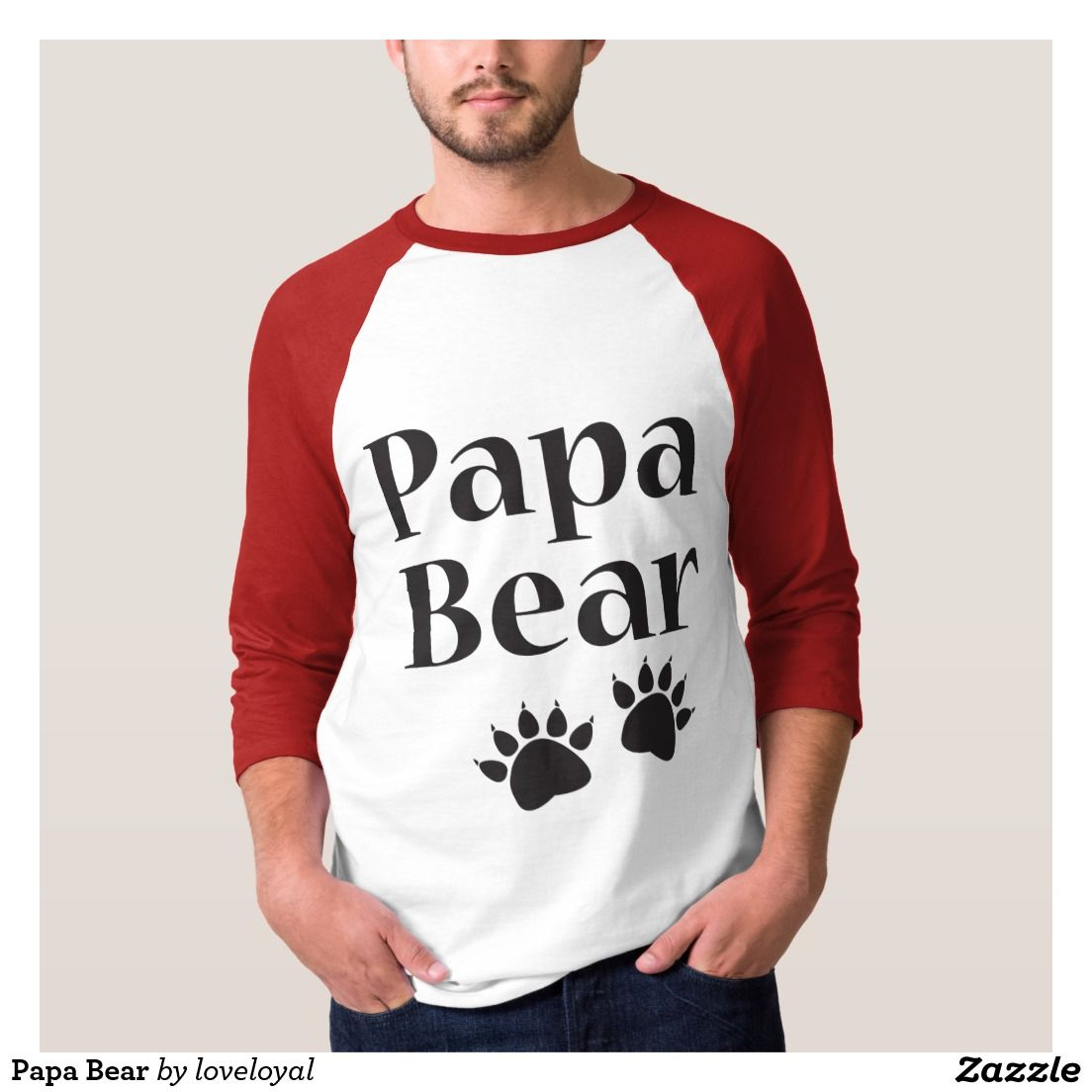 Papa Bear T-Shirt #papabear #poppa #dad #daddy #tshirts #dadshirts #bear #claws #family #mamabear #pawprints