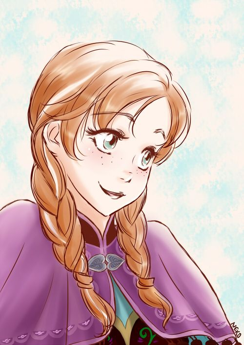 K Anime Characters Anna : Anna from frozen fan art image