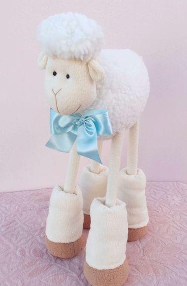 Carneirinho Théo - 50 cm Ovelha perna de pau, ovelha alta, ovelha pernuda, ovelha de polaina, decoração ovelha, ovelhinha, chá de bebê ovelha, sheep