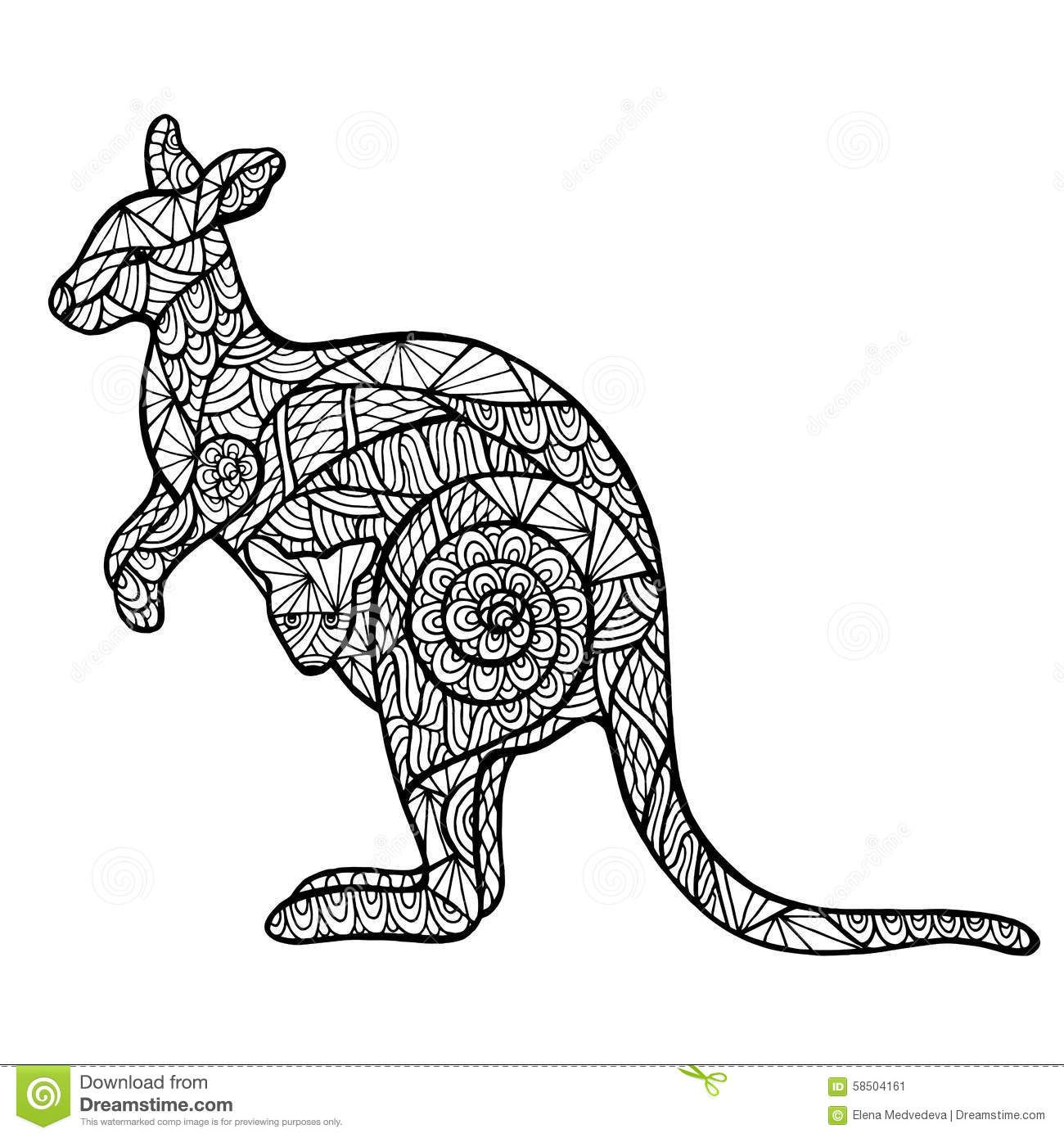 Keptalalat A Kovetkez Re Adult Coloring Kangaroo