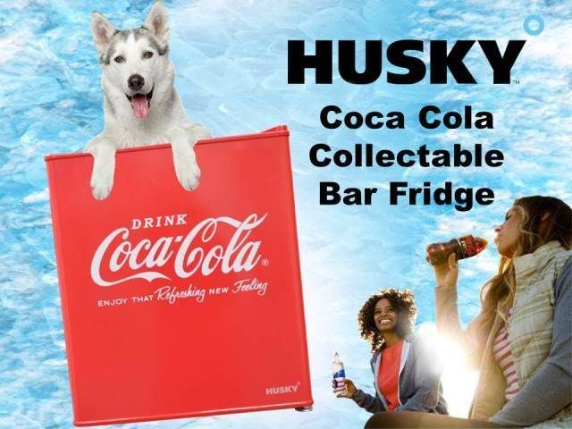 Kühlschrank Coca Cola Husky : Coca cola logo bar fridge husky refrigerator coca cola