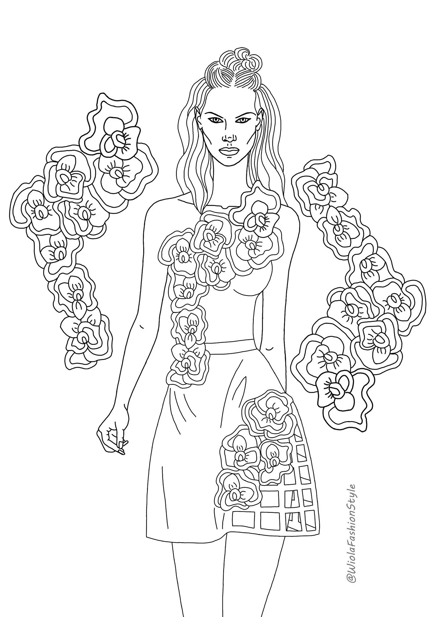 Pin By Wioletta Wiecek On My Art Work In 2020 Fashion Coloring Book Anime Art Girl Coloring Pages