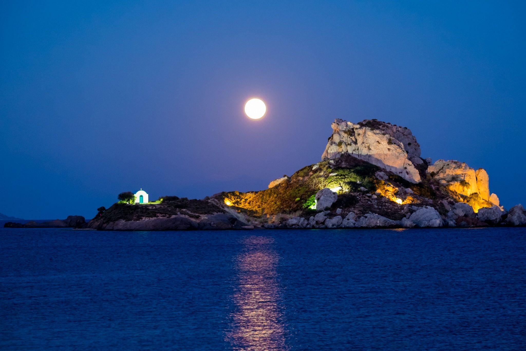Moonrise on the Aegean