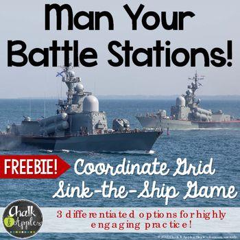 FREE Coordinate Grid Battleship Game Measurement and Data