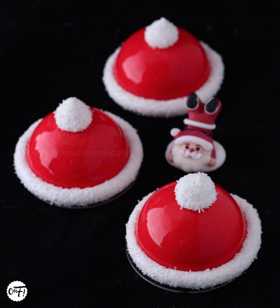 Les bonnets du père Noël | Recette dessert noel, Dessert de noel original, Dessert noel