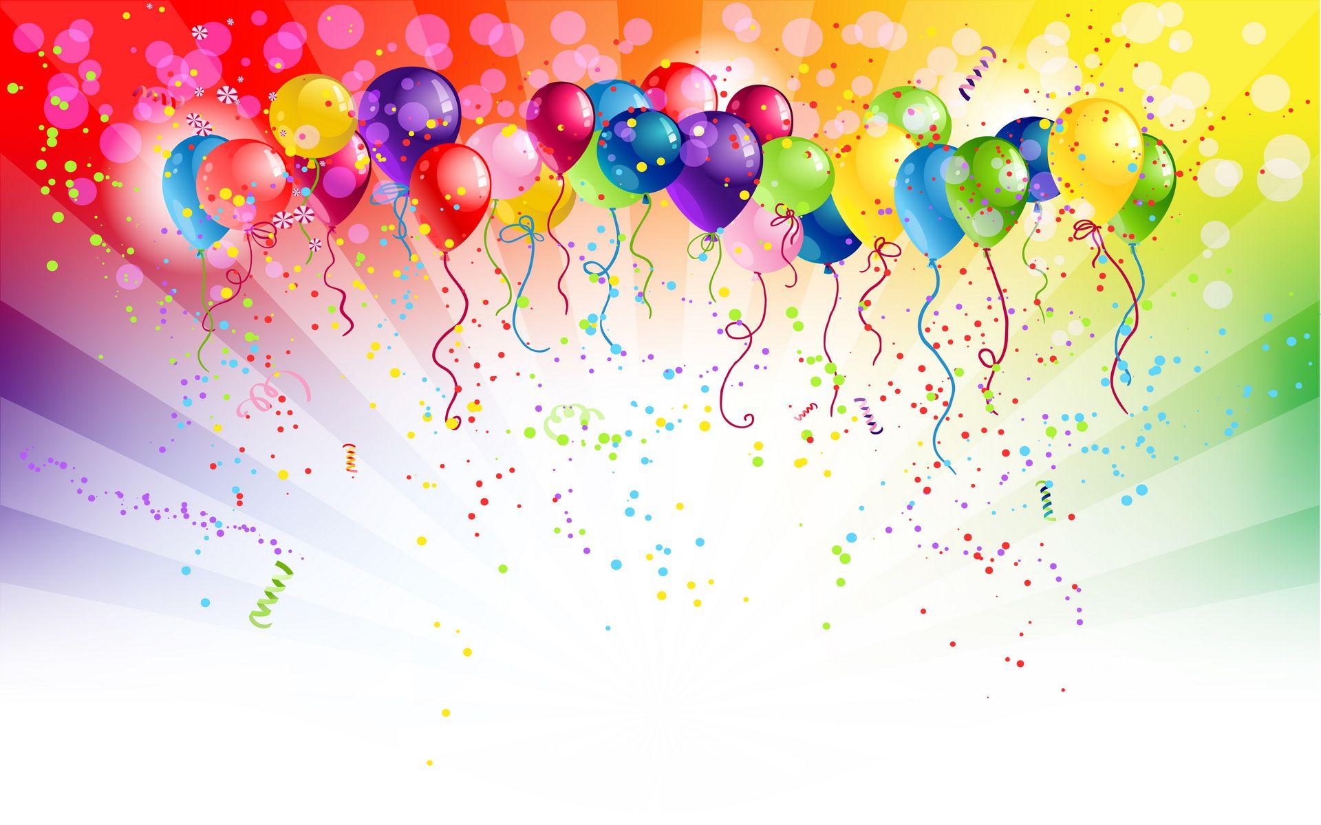 Birthday dancing balloons happy
