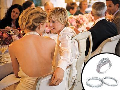 Ellen And Portia Wedding Rings