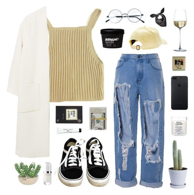deuterons by jesicacecillia on Polyvore featuring moda, MANGO, Vans, Alexander McQueen, Marc Jacobs, Bobbi Brown Cosmetics, HAY, The French Bee and Maison Margiela