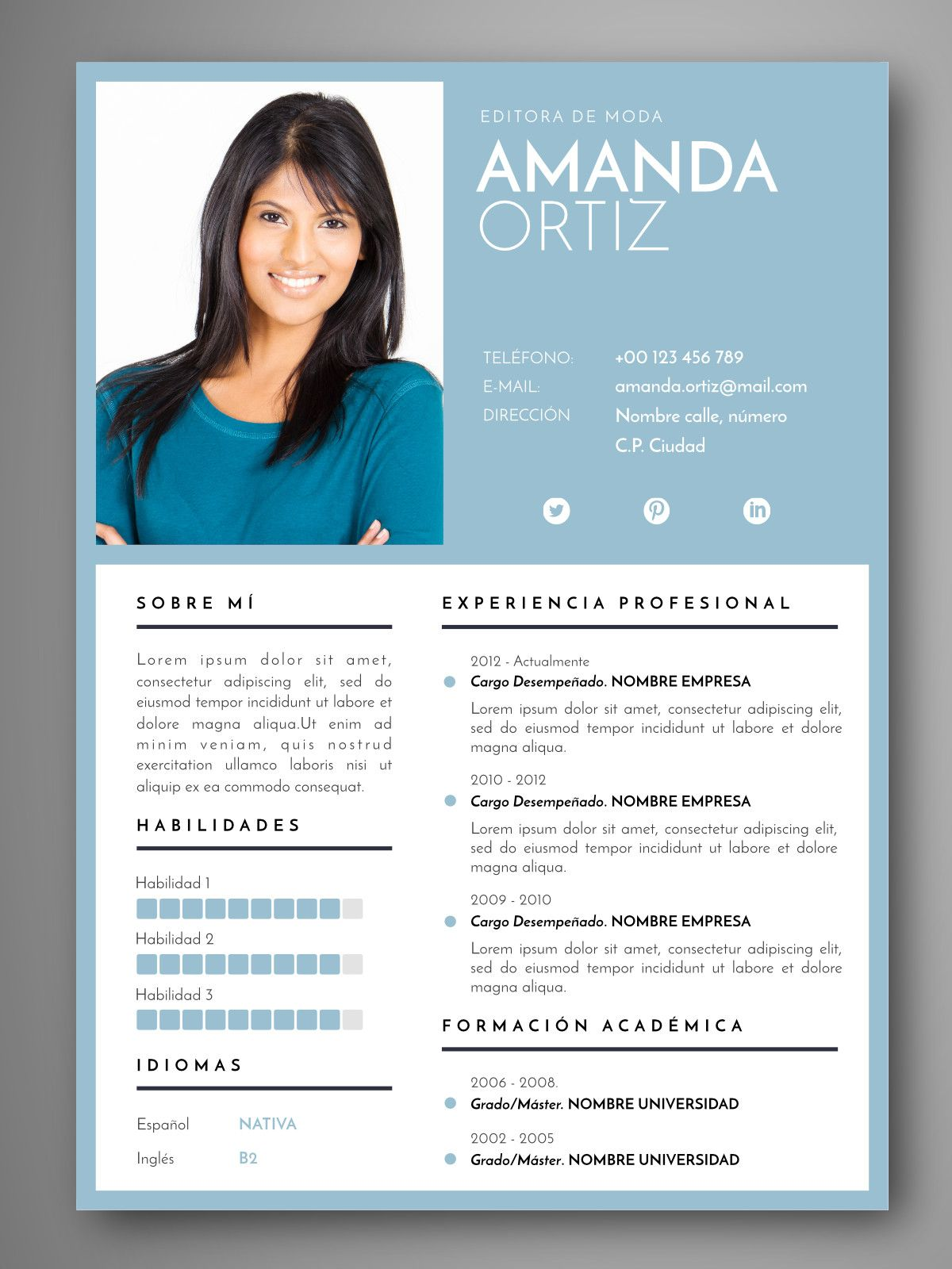 Currículum DAKAR | Empapelarte | CV | Pinterest | Curriculum and Cv ...