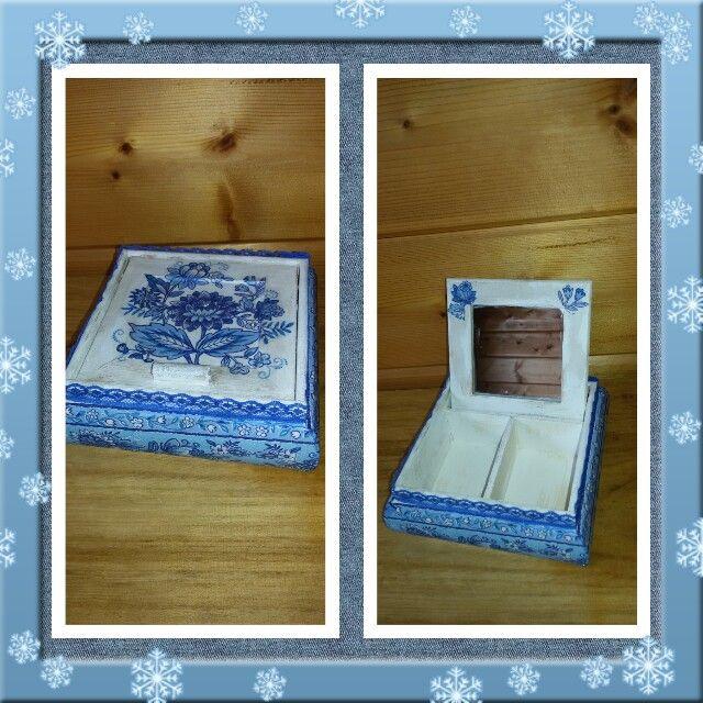 Sieraden doosje gedecoreerd met servetten