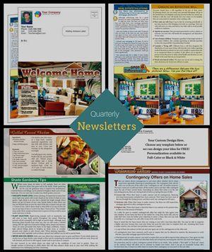 Page Realtor Newsletters HalfFold Real Estate Newsletter