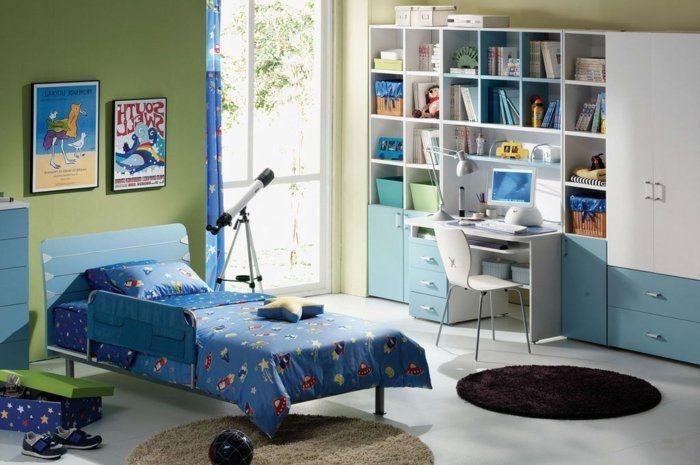 Kinderzimmer Einrichtung Ideen Blau Grünes Zimmer Teleskop
