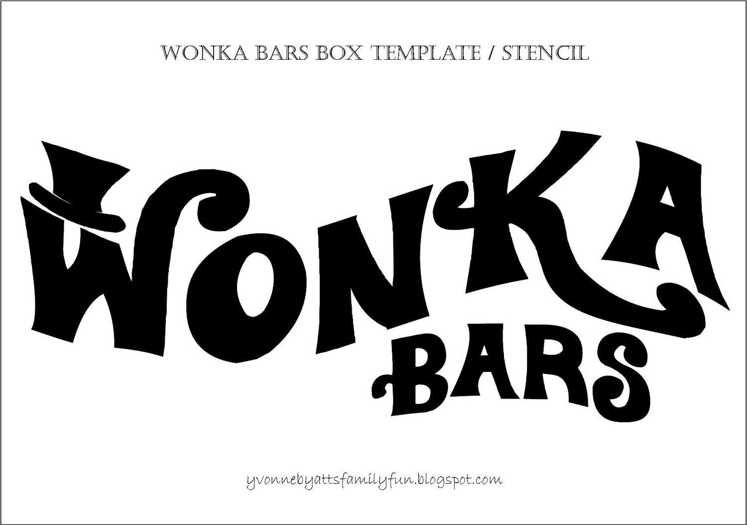 Wonka Bars Stencil for box decorations props | Willy Wonka ...