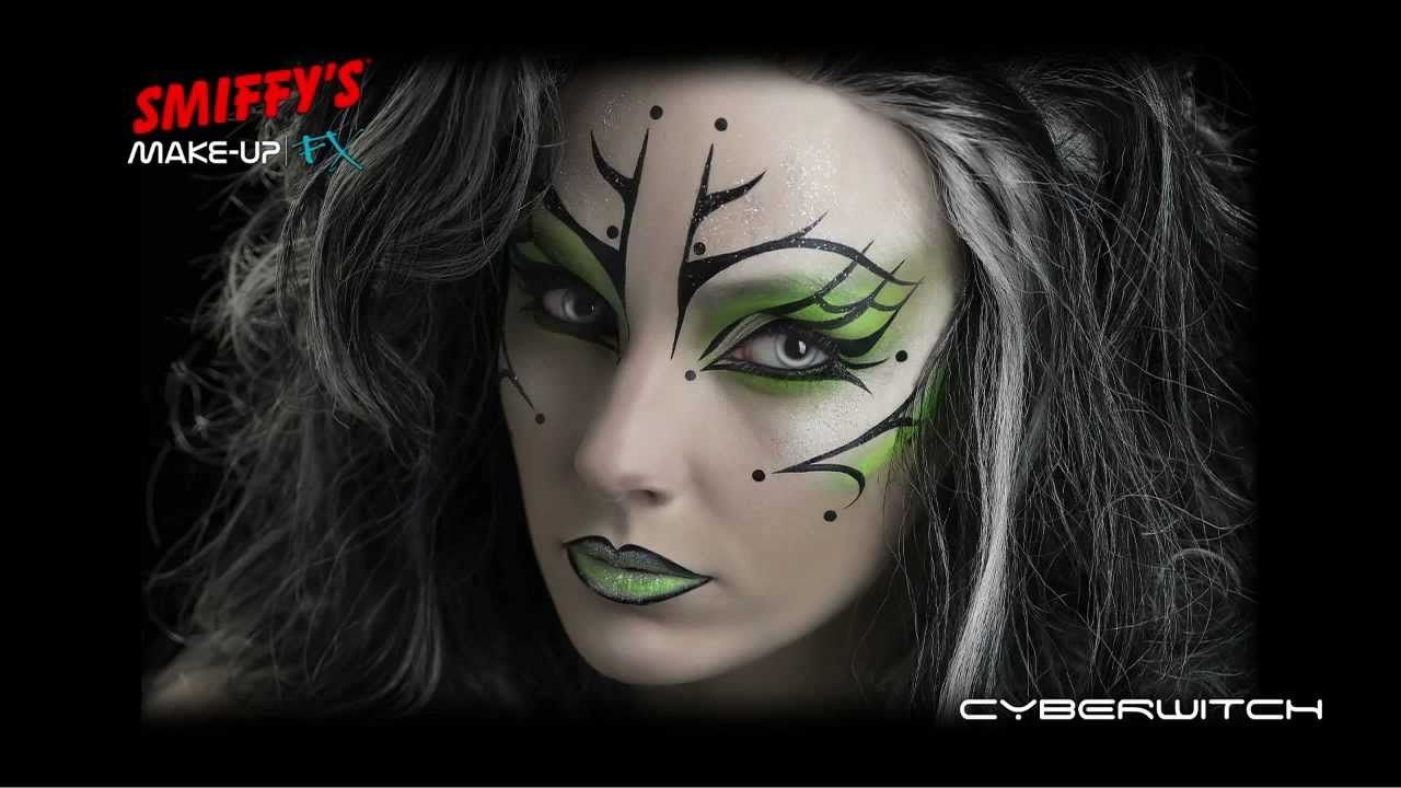 Witch halloween makeup kits are available in the market which cyber witch face painting halloween make up tutorial baditri Images
