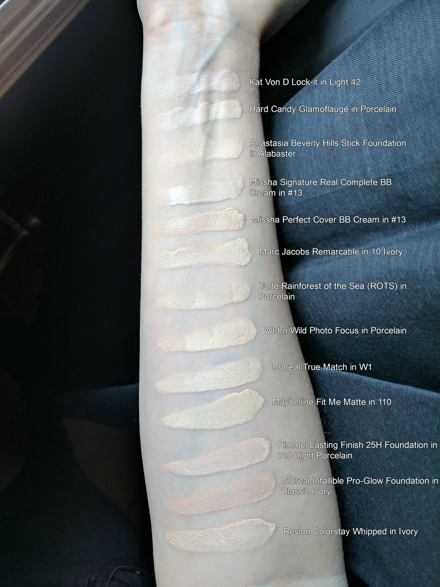 Foundation Swatches In 2019 The Pale Girl S Guide To