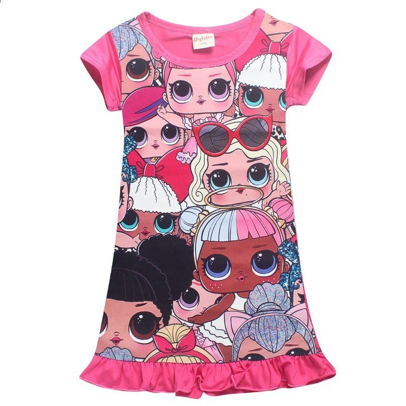 2c29173e7c7b Summer piger kjole tegneserie baby piger kjole prinsesse kjole baby pige  sommer tøj Fødselsdag aften fest enhjørning fest kjoler