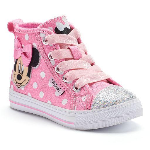 Disney's Minnie Mouse Toddler Girls' Glitter High Top
