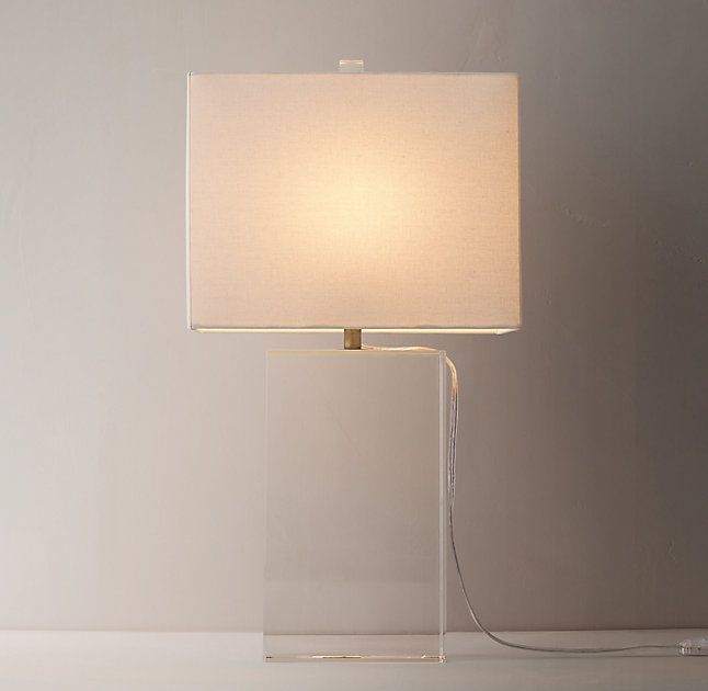 Mallory Crystal Table Lamp With Shade