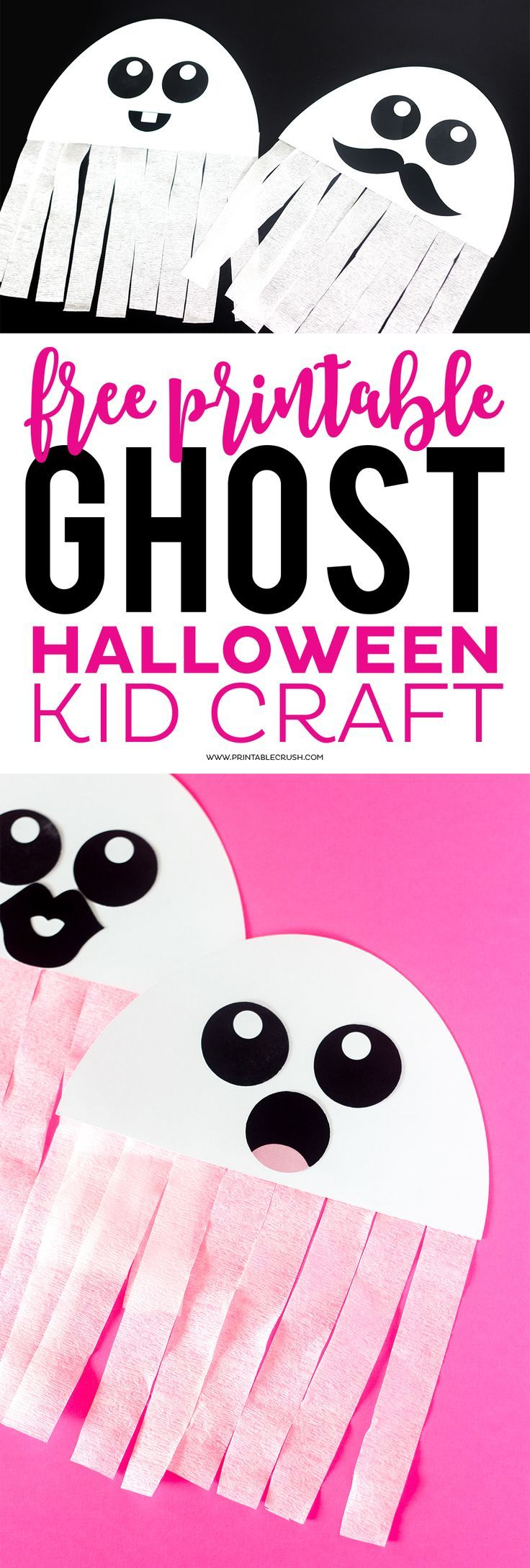 picture relating to Free Printable Halloween Crafts called This Cost-free Printable Ghost Halloween Craft would be a Good