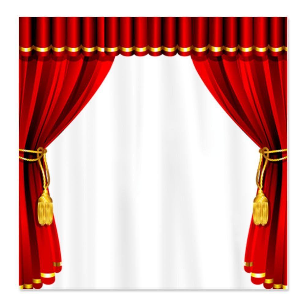 CafePress Movie Theater Shower Curtain - Standard White | bath mats ...