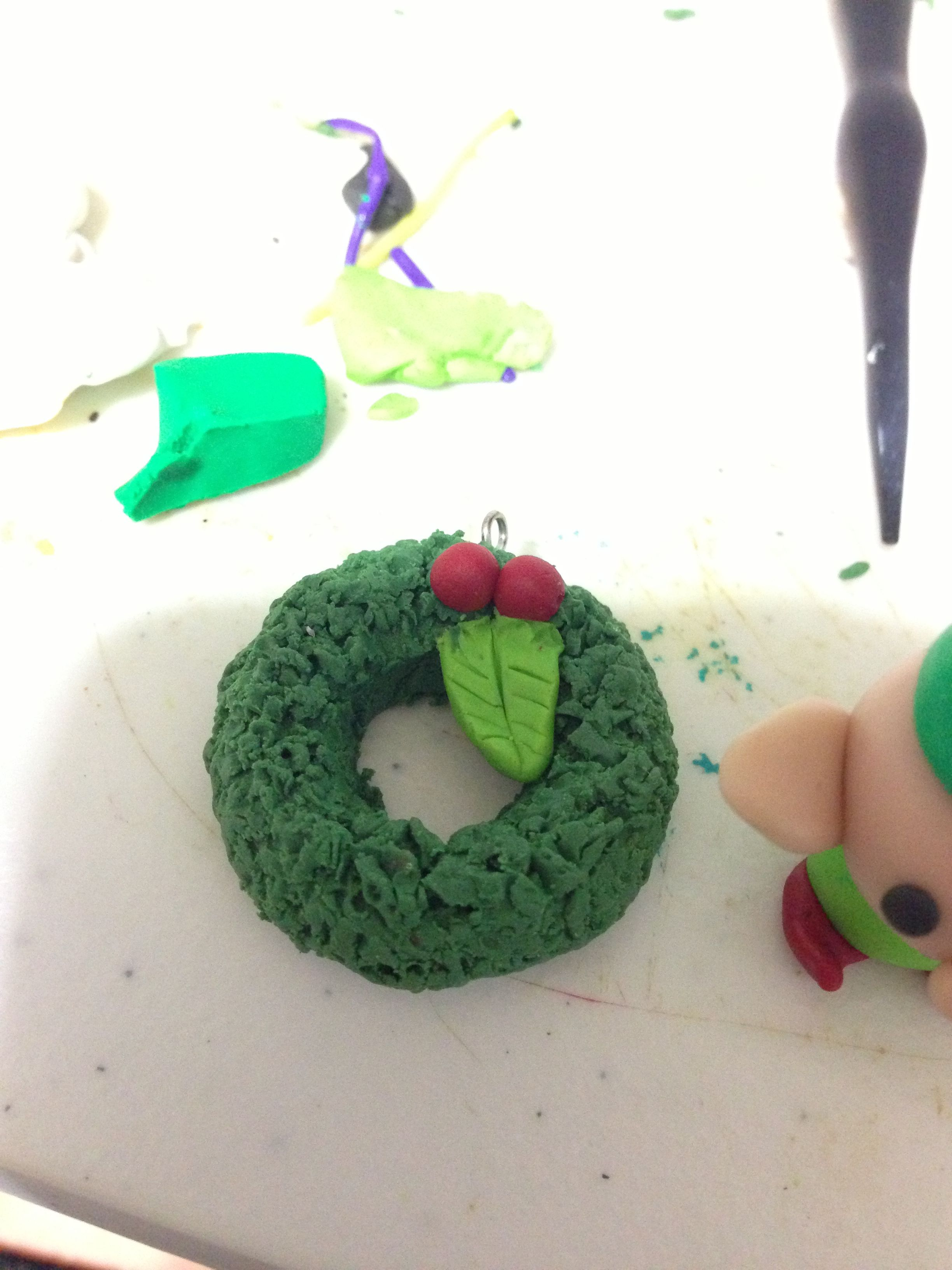 Cute Clay Reath With Mistletoe It Was Really Fun To