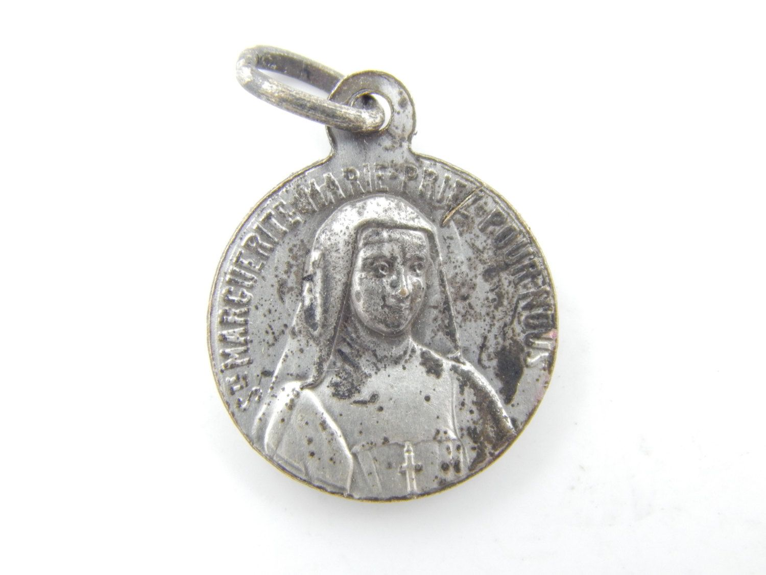 notre dame poncet rare lady listing fullxfull our the lourdes de silver mary il blessed catholic french medallion holy medal antique virgin religious penin