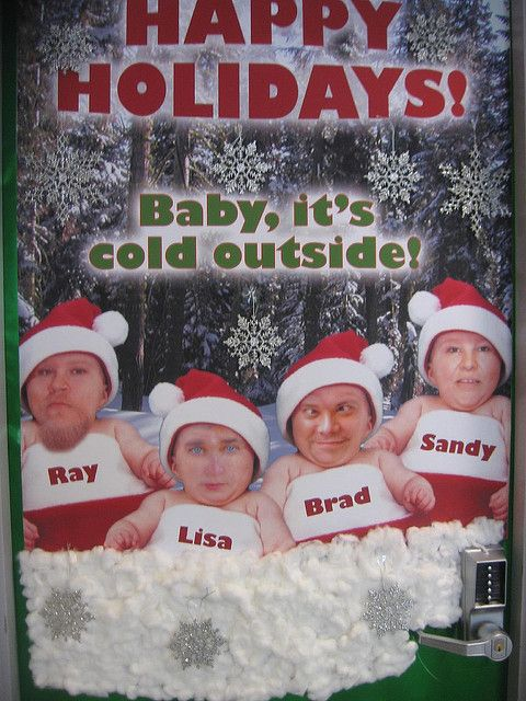 Scary Christmas Office Door Contest Entry Office
