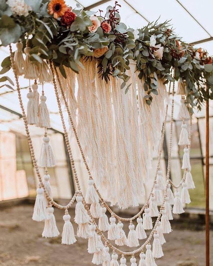 """Der moderne Hochzeitsblog on Instagram: """"(Werbung da Verlinkungen) ↠ Makramee-Liebe ↞ Beim Stöbern durch meine Bilddateien habe ich gerade diese traumhaft schöne Kreation der…"""""""